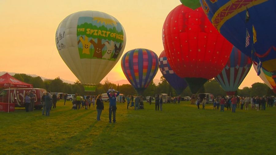 People roaming around the 2021 Spirit of Boise Balloon Classic.