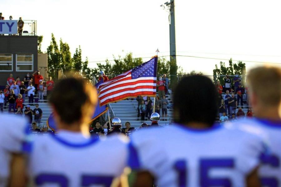 The football team brought home a win against Boise on September 23, go Wolves!